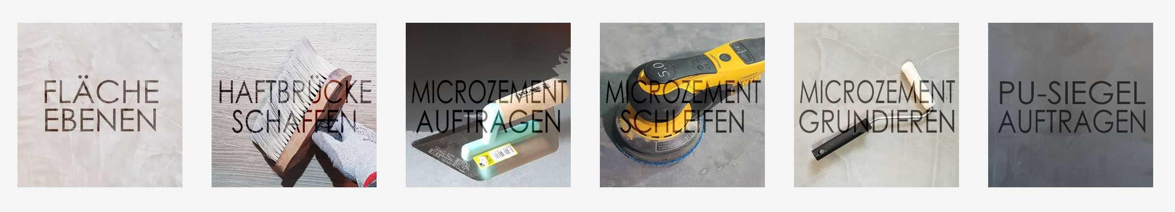 Mikrozement verarbeieten
