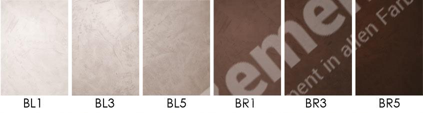 Mikrozement Farbkarte Standard selber mischen