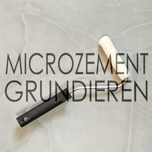 Microzement Schicht grundieren