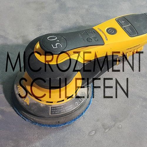 Microzement schleifen