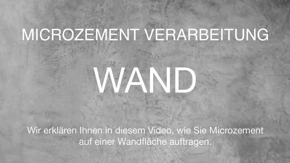 Microzement Video Anleitung Wand 1:30