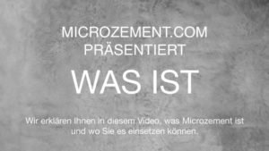 Was ist Microzement