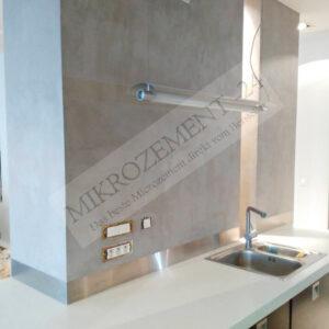 Microzement auf Bauplatten