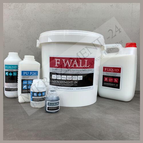 15 m2 Wand - Microzement F-WALL Set